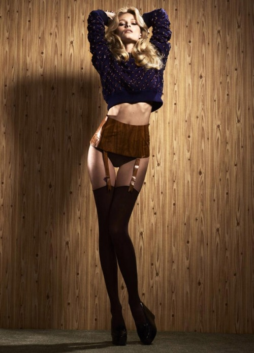 And I can get faux-woodgrain garter belt where now? Edita Vilkeviciute for 032c Magazine. Click through for more, the whole shoot is so nasty. In a good way (obviously). (via Fashionising)