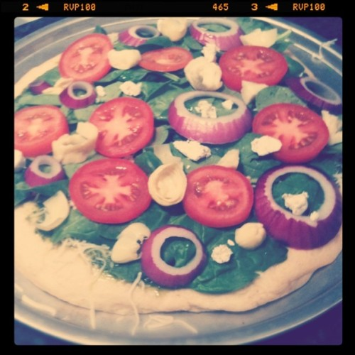 Krupa's yummy pizza.  (Taken with instagram)