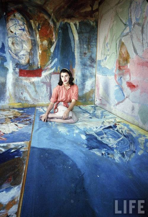 Helen Frankenthaler, 1956. Photo by Gordon Parks (American, 1912-2006)  (via:nevver: Small Joys)