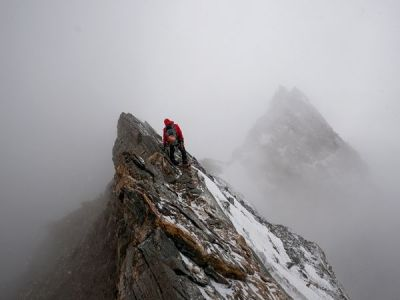 "World's Fastest Climber? On April 17, 2011, Swiss climber Ueli Steck soloed the south face of Tibet's 8,027-meter Shisha Pangma, the 14th highest mountain in the world, in a jaw-dropping ten-and-a-half hours. The news may have taken the adventure world by storm, but Shisha Pangma is, in fact, only one stage of a multi-mountain, six-month odyssey Steck has dubbed ""Project: Himalaya.""  Read more."