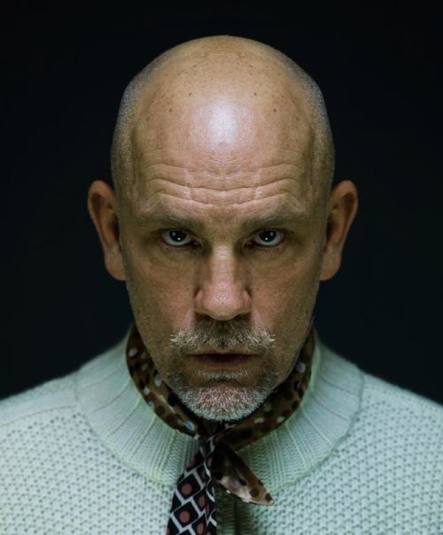 "kindafabulous:  When I was 8 years old, I asked John Malkovich if I could walk his dog (I had a professional dog-walking business at the time), and he said ""maybe.""  He also opened the door and stared at me like THIS!  I want John Malkovich to look at me like this. Often. Very, very often"
