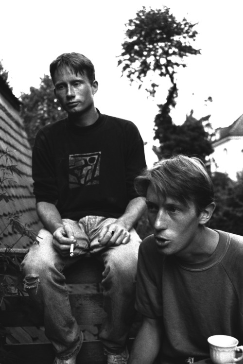 Adrian and Konrads Spliff Time.Pullach.Bayern.1991