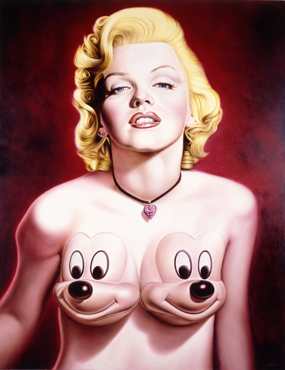 "It's Marilyn Monroe's Birthday today, ""Marilyn"" by artist Ron English Oil on Cavas (size unknown)…"