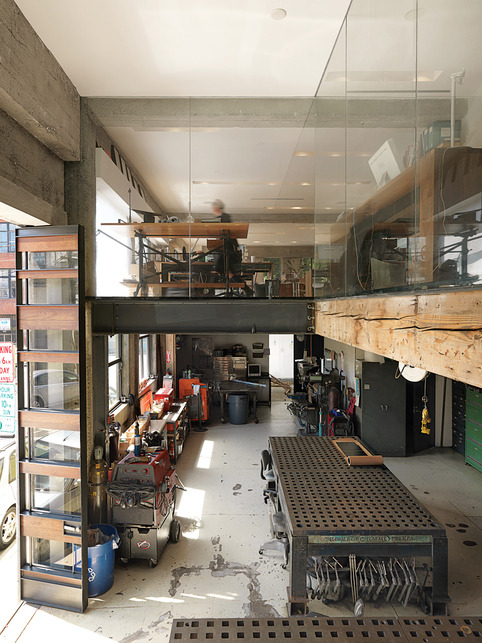 workspaces:  Jeff & Larissa Sands's architecture office, industrial design studio, and home all rolled into one building. | via Dwell   Dream shop!