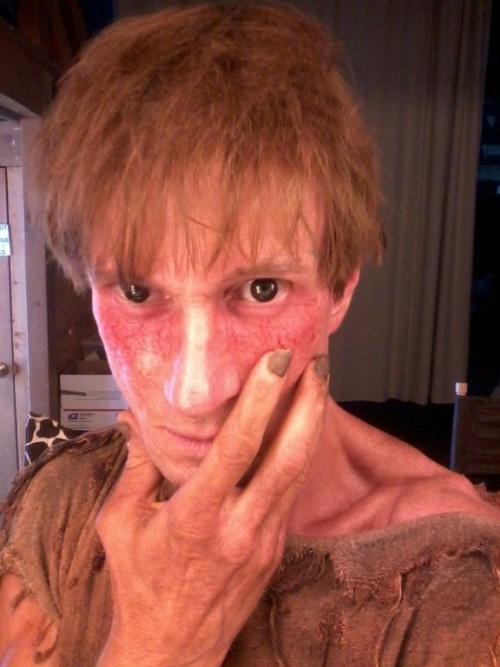 Bill Oberst Jr. make-up test for role opposite Robert Loggia in THE LAST SUPPER from Pure Flix Entertainment. The film tells the Biblical story of St. Peter. Robert Loggia plays St. Peter in his last days. Bill Oberst Jr. plays a demon who appears to St. Peter in his cell. The film is being directed by Gabriel Sabloff in Los Angeles.