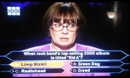 seriously tho, how come they didn't go with Kid Rock as an answer choice? whatthekidsareinto:  Wrong on so many levels.