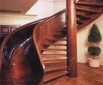 noted for when I build my dream house.  Spiral Staircase Slide, Indianapolis, Indiana photo by scottjones