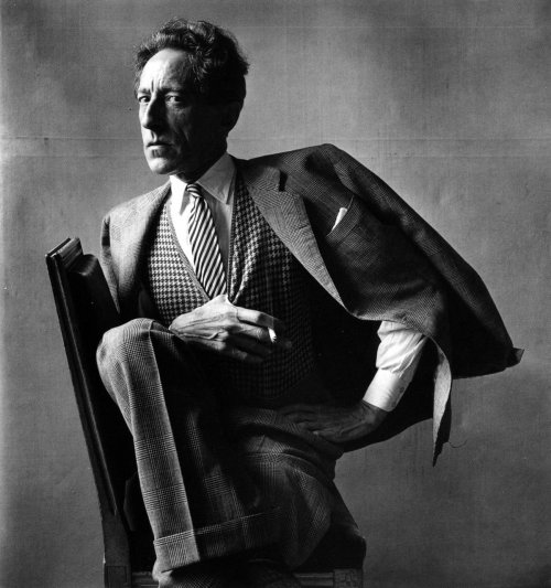 "JEAN COCTEAU (5 July 1889 – 11 October 1963), French poet, novelist, dramatist, designer, boxing manager, playwright, artist and filmmaker. ""I am a lie who always speaks the truth."" ""Art produces ugly things which frequently become more  beautiful with time. Fashion, on the other hand, produces beautiful  things which always become ugly with time."" ""Asking an artist to talk about his work is like asking a plant to discuss horticulture."" ""True realism consists in revealing the surprising things which habit keeps covered and prevents us from seeing."" ""Mystery has its own mysteries, and there are gods  above gods. We have ours, they have theirs. That is what's known as  infinity."" ""I believe in luck: how else can you explain the success of those you dislike?"""