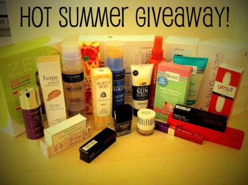 allthingsalishan:  yellowonesdontstop:  HOT SUMMER GIVEAWAY - WORTH ALMOST $565!  As I mentioned before, my magazine had a huge beauty sale so now you have the chance to win all of these items of which I spent a total of $44. All proceeds from the beauty sale went to Sloan-Kettering's Pediatric Cancer Care so my $44 was well spent. Why do I do this? Because I really do get a huge kick out of doing nice things for people. Those closest to me will tell you that. And, really, because people should know what it feels like to work at a magazine where awesome things like beauty sales are a regular occurrence. How do you win? 1. Follow me. 2. Reblog this post. 3. Feel free to unfollow me after the giveaway winner is announced as I don't do this for the followers. FYI, reblogging this post multiple times will NOT increase your chances of winning. How will the winner be chosen? Random.org. When will the winner be announced? Tuesday, June 7 at 9 PM. But please note that you only have until 8 PM on June 7 to reblog before I close the contest so I can pick the winner. What hidden costs are there? NONE. I will even mail this entire beauty bundle to the lucky winner at no cost to them. The following items are all included in this bigger-than-Kim-Kardashian's-diamond Hot Summer Giveaway. Please note that I list shade names where applicable and tried to give links to the exact item. No items can be substituted, changed or omitted. What you see is truly what the winner will get. The winner will receive EVERYTHING listed below: Zeno Heat Treat Blemish Prevention Kit Retail value: $39.99Lavanila Health Sunscreen SPF 40 Retail value: $28Nu Skin Clear Action Acne Treatment System Retail value: $101.65GoClear 3-Step Acne and Blemish Regimen  Retail value: $40Zeno Heat Treat Blemish Prevention Kit Retail value: $39.99FCUK Summer for her, 3.4 oz Retail value: $26.19Elizabeth Arden Eight Hour Cream Lip Protectant Stick SPF 15 Retail value: $17Burt's Bees Radiance Day Lotion SPF 15 Retail value: $18Philosophy Hope in a Tinted Moisturizer in Medium Retail value: $38Philosophy Field of Flowers Shower Gel Retail value: $16Topshop Blush loose powder in Walnut Retail value: $9.84Too Faced Absolutely Flawless Concealer in Vanilla Light Retail value: $20Jemma Kidd Make Up School Firming I-Silk Long-Lasting Colour in Antique Retail value: $26Jemma Kidd Pro Finish Moisture Tint SPF 20 in 03 Mid Dark Retail value: $26Jemma Kidd Make Up School Hi-Shine Hydrating Glossstick SPF 15 in Sugar Cane Retail value: $25 Borba Wrinkle Smoothing Serum Retail value: $20.99Yes to Tomatoes Clear Skin Acne Roller Ball Spot Stick Retail value: $9.99Rimmel London Moisture Renew Cream Lipgloss in SOS Red Retail value: $5.99Sally Hershberger Hyper Hydration Retail value: $12.49Bioré Deep Cleansing Pore Strips Retail value: $9.15Bioré Pore Unclogging Scrub Retail value: $8.95John Frieda Collection Frizz-Ease Gel Retail value: $5.99John Frieda Collection Always Stylish Gel Crème Retail value: $5.49Butter London 3 Free in No More Waity Kaity – LIMITED EDITION - No longer available on Butter London's site or anywhere else online Retail: $14 TOTAL ESTIMATED RETAIL VALUE: $564.70. Please don't worry if you do not win. This is now my second beauty giveaway this year, and I will likely be doing this in another three to four months. GOOD LUCK!  I WAAAAAANT!   Need.