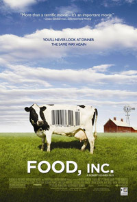"Media to Consume if You Care About Food #1: Movie: ""Food, Inc."" Same idea as the other two books I mentioned, but illustrated, visualized, documented: how food is made, produced, how the industry got this way and where we are going in the future. This movie is not for the faint of stomach, for sure. All these books and movies are totally enlightening me as to what exactly I'm putting in my body and helped me realize how far removed I am from that kind of information. Very well done. IMDB info: http://www.imdb.com/title/tt1286537/"