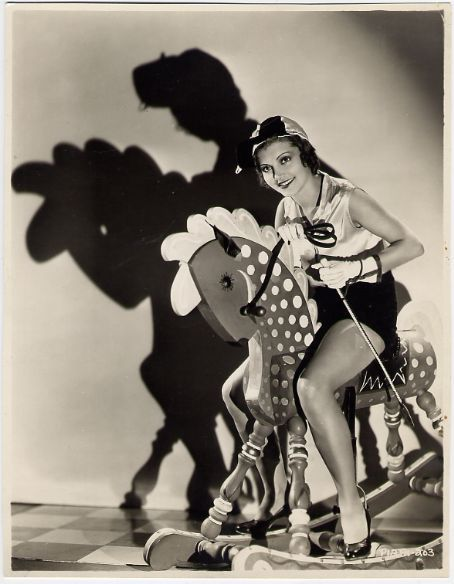 mothgirlwings:  Peggy Shannon and her nifty hobby horse - c. 1930s