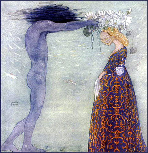 "fairytalemood:  ""Agneta and the Sea King"" by John Bauer"