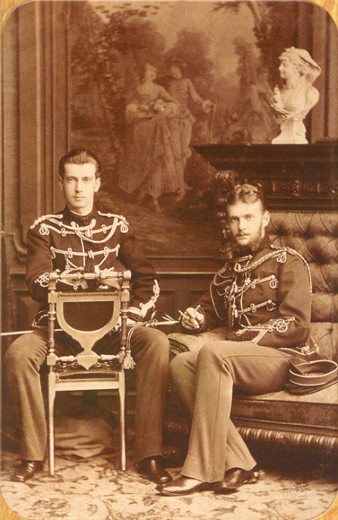 thefirstwaltz:  Grand Dukes Sergei and Pavel of Russia, youngest sons of Tsar Alexander II and Tsarina Maria Alexandrovna of Russia; 1870s.