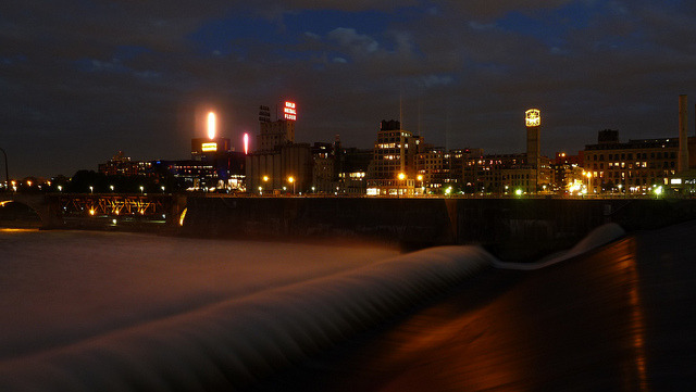 Downtown Minneapolis by night on Flickr.