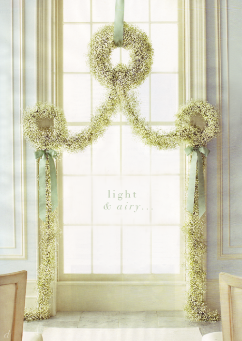 Scans by Dress, Design & Decor from Martha Stewart Weddings Summer 2011, photographer Johnny Miller