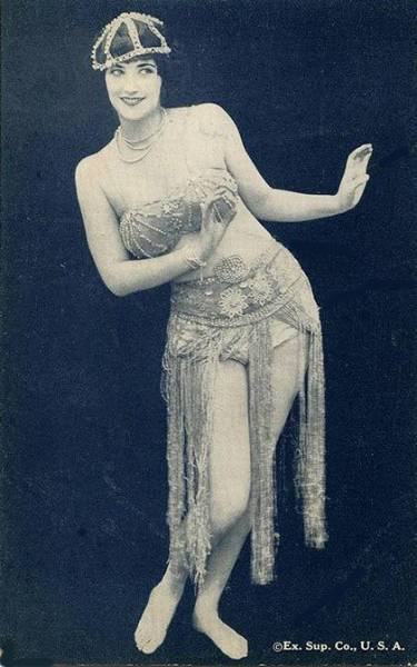 maudelynn:  1920s Vintage Exotic Dancer Arcade Card by the Exhibit Supply Co. USA