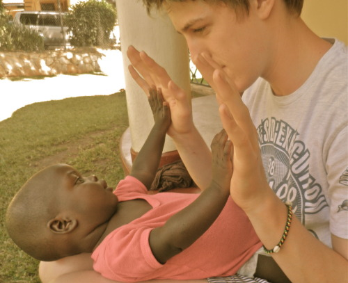 Lia and Myself. Watota Baby Orphanage, Uganda.