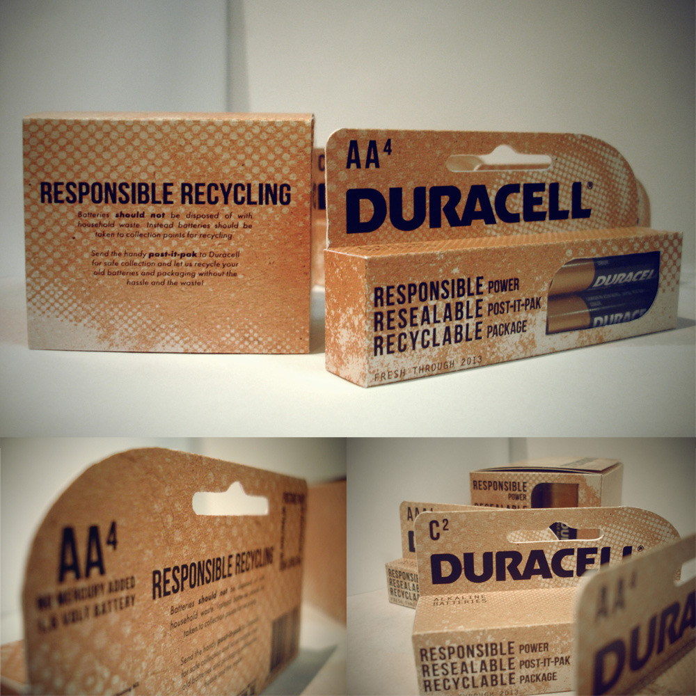 Sustainable Duracell Battery Packaging Redesign