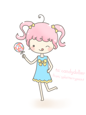 forever art trade for: candydollier she asked for a girl with a candy, hope you like it :)