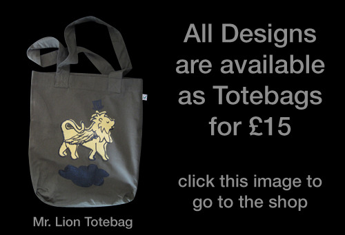 Totebag versions of all of our designs are available!