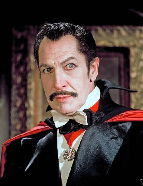 "monsterman:  Vincent Price as Count Sfoza on the F Troop episode ""V is for Vampire"" rcmerchant:  Vincent Price as Dracula??? From an episode of the 1960's tv show F TROOP!"