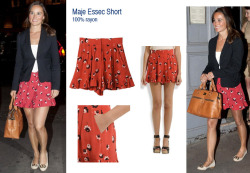 Pippa wears the Essec short from French boutique label Maje. (Thanks to Fashion Foie Gras for finding the brand!)