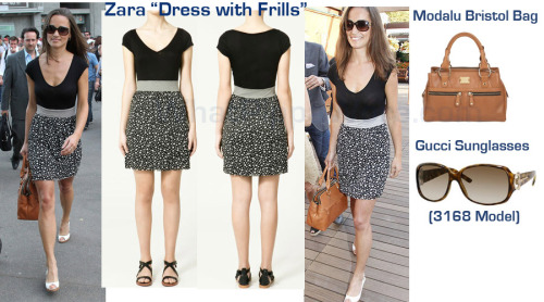 It was another Zara dress for Pippa at the French Open over the weekend.