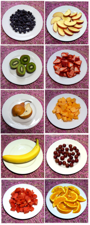 pinkiipromise:  What 100 Calories Really Looks Like: Fresh Fruit