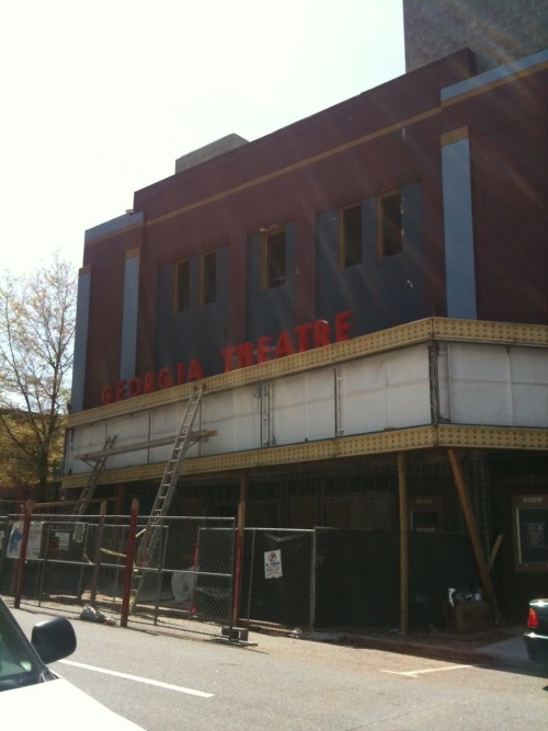 Athens's historic Georgia Theatre set to re-open in August with all-star line up  Two years ago this month, the Georgia Theatre was nearly destroyed in an  early morning blaze. As music fans tearfully gathered outside the  still-smoldering 122-year-old structure at 215 North Lumpkin Street,  owners Wilmot Green and Scott Orvold vowed to rebuild.  Read Rich Eldredge's blog post