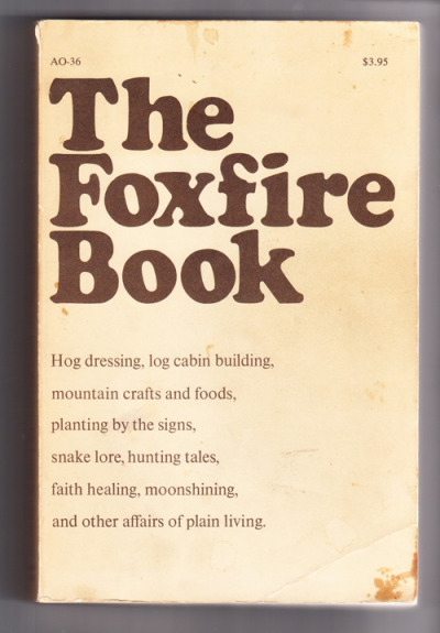 To get properly into that Southern Appalachia feeling, read the Foxfire books and listen to this. I'm currently in capital-L love with Foxfire and have spent the last few days reading all about how to best slaughter hog, deer and even raccoon. This information will clearly come in handy one day.