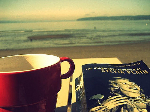 lifeofliterature:  Sylvia loves the seaside (by mme.bookling)