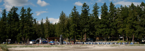 Photo of the Week - Powell River Base Camp. Just one month away from your first night at Base Camp during the 2011 BC Bike Race, July 2 to 9! Photo by Dave Silver
