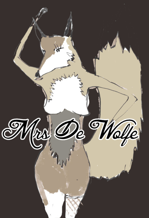 My husband Mr de Wolf drew this picture of me.