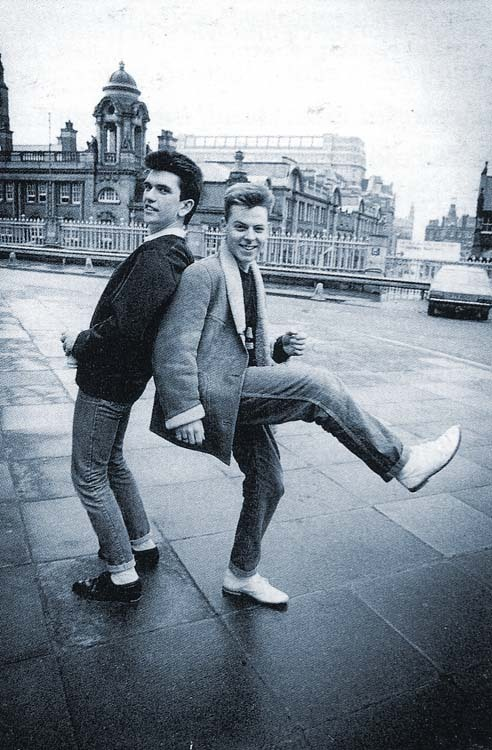 Mike Joyce (drums) and Andy Rourke (Bass) from The Smiths. Photo: Paul Slattery-1983