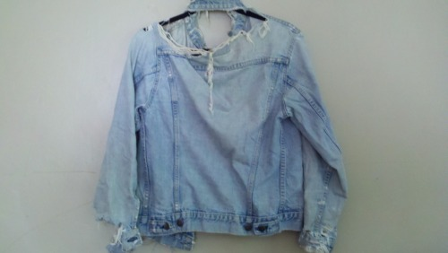 My vintage very worn Levi's denim Jacket. A hand me down from Janna, from her mother from the 50/60's.