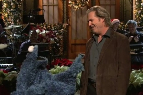 Cookie Monster & Jeff Bridges