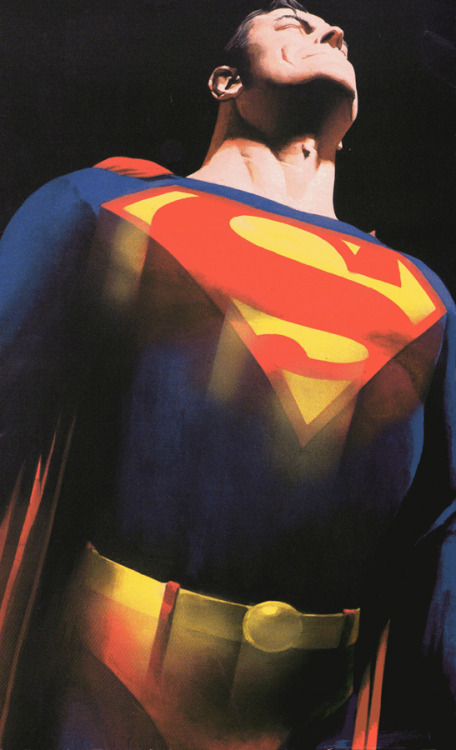 Superman's Close up by Alex Ross