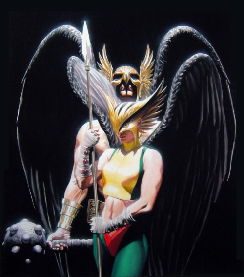 Hawkman and Hawkgirl by Alex Ross