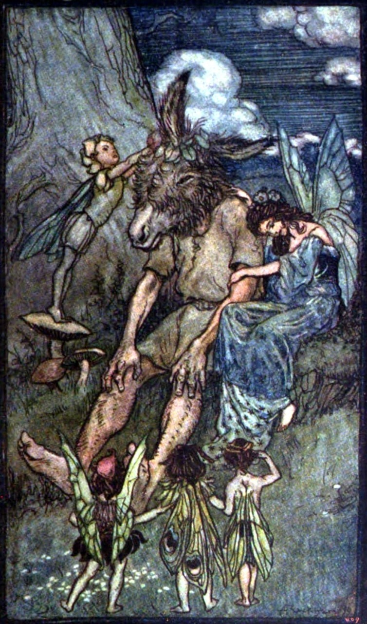 Arthur Rackham ~ Where is Pease-Blossom? (without border) ~ from Tales From Shakespeare by Charles and Mary Lamb ~ 1909 ~ via archive.org
