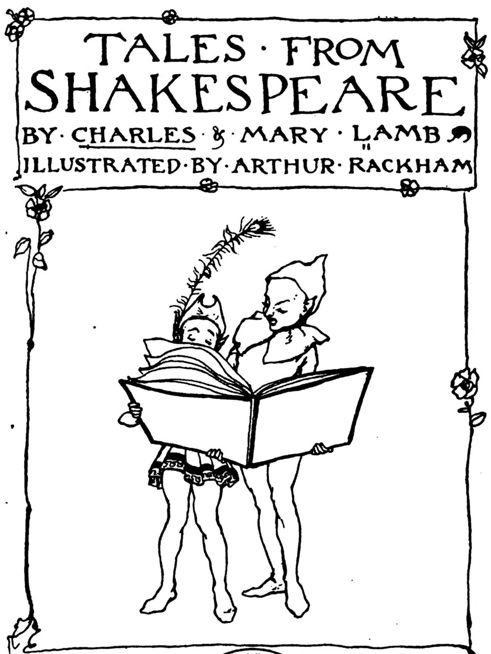 Arthur Rackham ~ Detail from Title Page ~ Tales From Shakespeare by Charles and Mary Lamb ~ 1909 ~ via archive.org