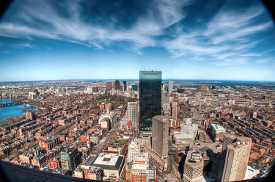 View down on Beacon Hill & Back Bay (by Werner Kunz)