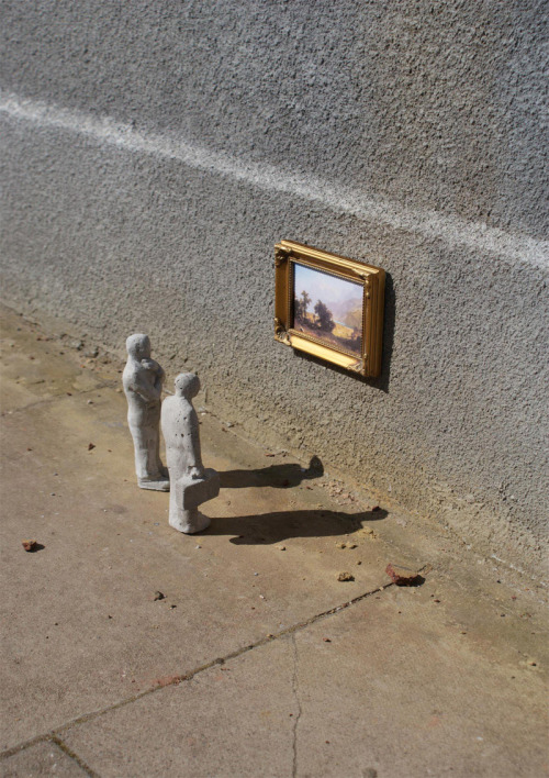 Cement Eclipses: Tiny Street Art Sculptures by Isaac Cordal  *thanks Ben!*