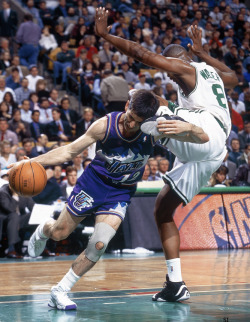 veteran huskies john stockton + antoine walker