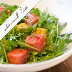 Seasonal Eats: Arugula, Watermelon and Avocado Salad with Spicy Lime Vinaigrette