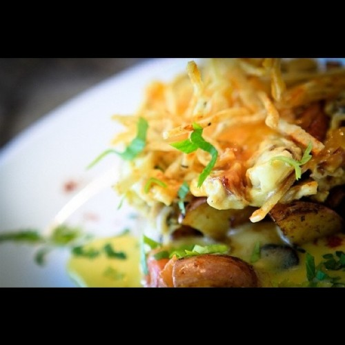 New Orleans Scramble w/ Black Pepper Hollandaise #Food (Taken with instagram)