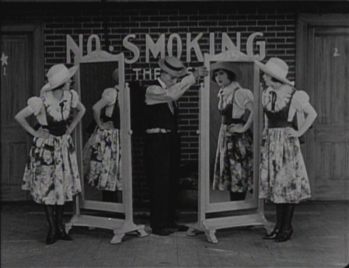theloudestvoice:  Virginia Fox, Buster Keaton, and Virginia Fox again, The Play House, 1921