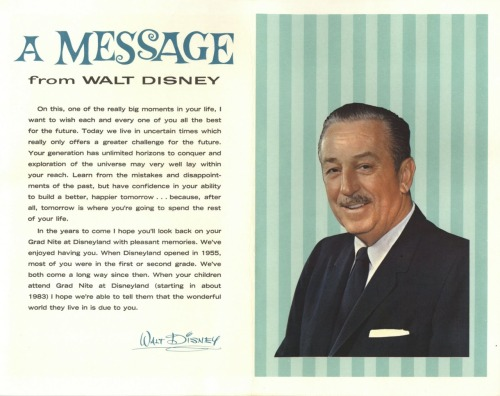 wibblywobblywaffles:  Uncle Walt, you are an inspiration. I would've flipped a gasket if I got this on my grad nite!