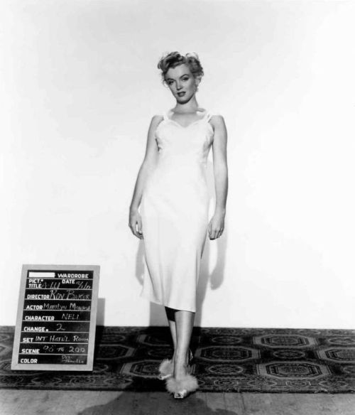 1951: Costume test for Don't Bother To Knock