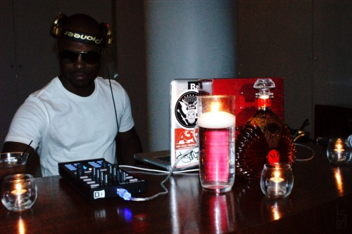 DJ Technology at the OG XO Brandy launch party… Clearly, I love this photo.
