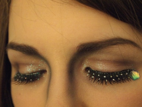 Check out Beautylish user Rachel A.'s cute, sparkly lashes!